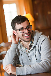 Star of The Inbetweeners Movie, Simon Bird, at a press photo-call on Skye before a sold-out screening of the new film in the island's Gaelic college..