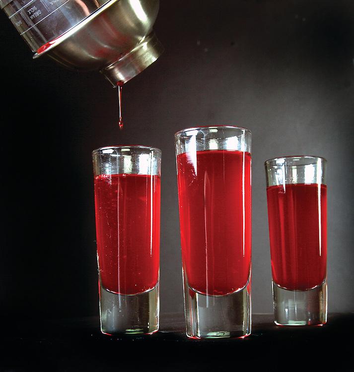 An Alabama Slammer is made of Jack Daniels, amaretto almond liqueur, sloe gin, Southern Comfort peach liqueur and orange juice, but there are many variations.   Photo Illustration/ Elliot Knight