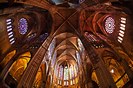 Leon Cathedral Leon Cathedrall, if the sunlight is shining through the windows, the impression of light, space and colour is quite magical. The total area of stained glass is arount 1,700 square meters.