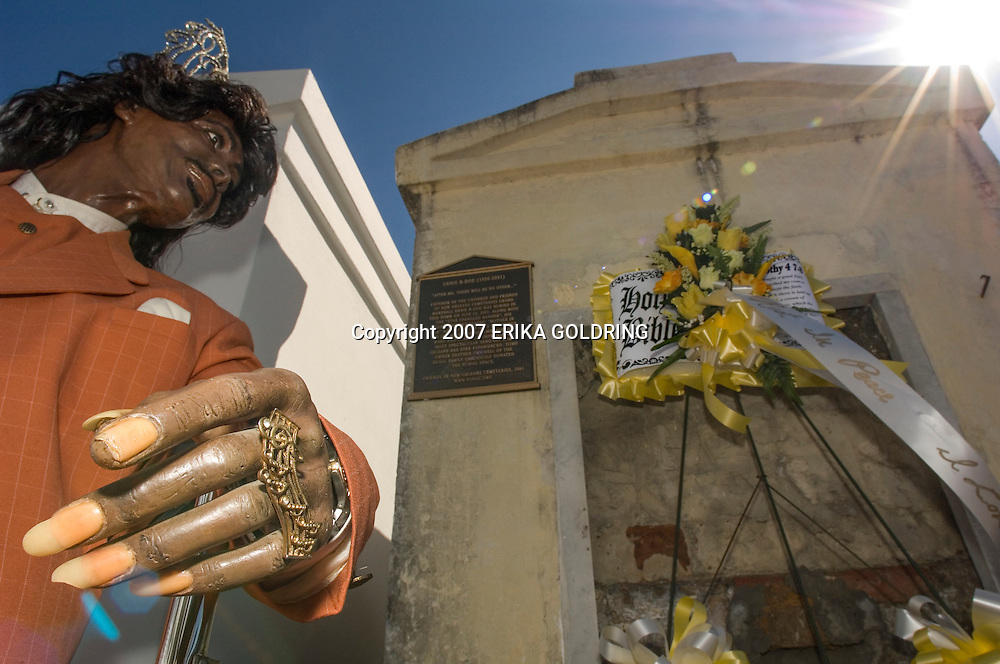 The Tomb of Ernie K-Doe, Earl King & Lloyd Washington in St. Louis II Cemetery on All Saints Day November 1, 2007,in New Orleans, LA, .