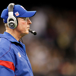 November 28, 2011; New Orleans, LA, USA; New York Giants head coach Tom Coughlin against the New Orleans Saints during the second quarter of a game at the Mercedes-Benz Superdome. Mandatory Credit: Derick E. Hingle-US PRESSWIRE