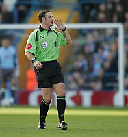 Photo: Lee Earle.<br /> Portsmouth v Charlton Athletic. The Barclays Premiership. 20/01/2007.Referee Mark Clattenburg.