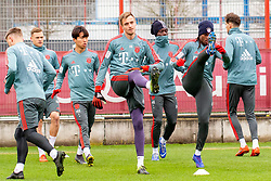 14.03.2019, Säbener Strasse, Muenchen, GER, 1. FBL, FC Bayern Muenchen vs 1. FSV Mainz 05, Training, im Bild v.l. Lars Lukas Mai (FC Bayern), Joshua Kimmich (FC Bayern), Wooyeong Jeong (FC Bayern), Christian Früchtl (FC Bayern), Alphonso Davies (FC Bayern), Renato Sanches (FC Bayern), Leon Goretzka (FC Bayern) // during a trainings session before the German Bundesliga 26th round match between FC Bayern Muenchen and 1. FSV Mainz 05 at the Säbener Strasse in Muenchen, Germany on 2019/03/14. EXPA Pictures © 2019, PhotoCredit: EXPA/ Lukas Huter