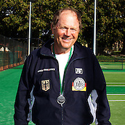 Peter Adrigan, Germany, Silver Medal Winner 65 Mens Singles competition during the 2009 ITF Super-Seniors World Team and Individual Championships at Perth, Western Australia, between 2-15th November, 2009