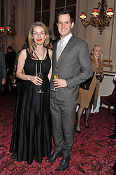 Historian, author & journalist DAN JONES and his wife JO at the Audi Ballet Evening held at the Royal Opera House, Bow Street, Covent Garden, London on 22nd March 2012.