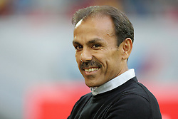 12.08.2016, Esprit Arena, Duesseldorf, GER, 2. FBL, Fortuna Duesseldorf vs VfB Stuttgart, 2. Runde, im Bild Cheftrainer Jos Luhukay (Stuttgart) laechelt // during the 2nd German Bundesliga 2nd round match between Fortuna Duesseldorf and VfB Stuttgart Esprit Arena in Duesseldorf, Germany on 2016/08/12. EXPA Pictures © 2016, PhotoCredit: EXPA/ Eibner-Pressefoto/ Hommes<br /> <br /> *****ATTENTION - OUT of GER*****