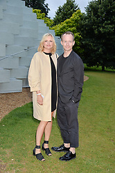 MARTIN ANDERSSON head of design at COS and KARIN GUSTAFFSON head of womenswear design at COS at a party hosted by fashion store COS to celebrate The Serpentine Park Nights 2016 held at The Serpentine Gallery, Kensington Gardens, London on 12th July 2016.