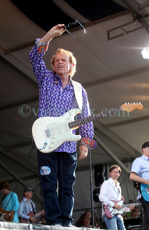 27 April 2012. New Orleans, Louisiana,  USA. .New Orleans Jazz and Heritage Festival. .The Beach Boys take to the stage to kick off their 50th anniversary tour. Al Jardine on stage..Photo; Charlie Varley.