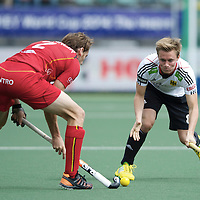 DEN HAAG - Rabobank Hockey World Cup<br /> 36 Belgium - Germany<br /> Foto: Mats Grambusch.<br /> COPYRIGHT FRANK UIJLENBROEK FFU PRESS AGENCY