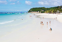 Philippines, region de Panay, île de Boracay, White beach. // Philippines, Panay area, Boracay island, White Beach.