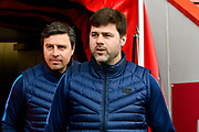 Tottenham Hotspur manager Mauricio Pochettino coming out on to the pitch on arrival before the Premier League match between Bournemouth and Tottenham Hotspur at the Vitality Stadium, Bournemouth, England on 11 March 2018. Picture by Graham Hunt.