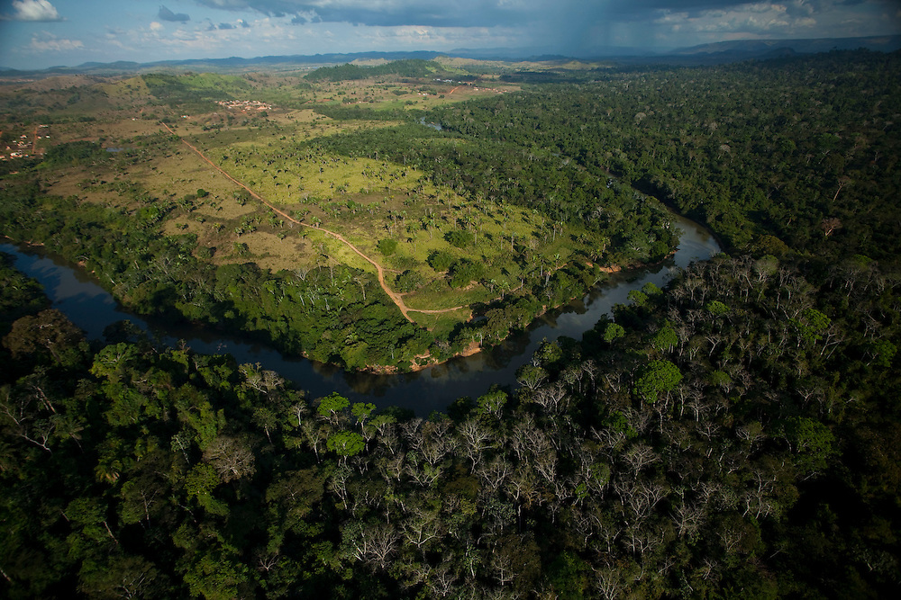 Parauapebas_PA, Brazil.<br /> <br /> The expansion of farming is one of the biggest threats to the species. In the picture, there is a pasture land moving towards the Parauapebas River, natural border of the Carajas National Forest<br /> <br /> Foto: JOAO MARCOS ROSA / NITRO