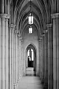 Corridor in the west tower of Washington National Cathedral...Started in 1907 and completed in 1990, the Cathedral Church of Saint Peter and Saint Paul in the City and Diocese of Washington is designated as the United State National House of Prayer and is listed on the National Register of Historic Places.