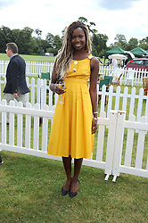 AITA IGHODARO at the 2008 Veuve Clicquot Gold Cup polo final at Cowdray Park Polo Club, Midhurst, West Sussex on 20th July 2008.<br /> <br /> NON EXCLUSIVE - WORLD RIGHTS
