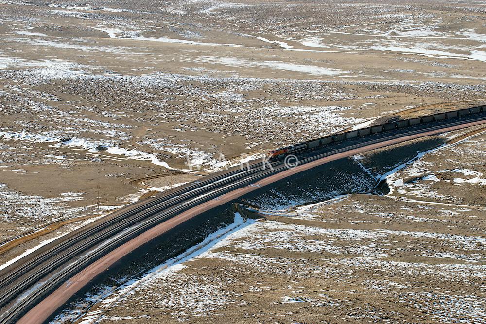 Coal train near Casper, Wyoming. March 2014.