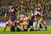 Greg Laidlaw couldn't salvage a recovery for Gloucester in the European Rugby Challenge Cup match between Gloucester Rugby and Stade Francais at BT Murrayfield, Edinburgh, Scotland on 12 May 2017. Photo by Kevin Murray.