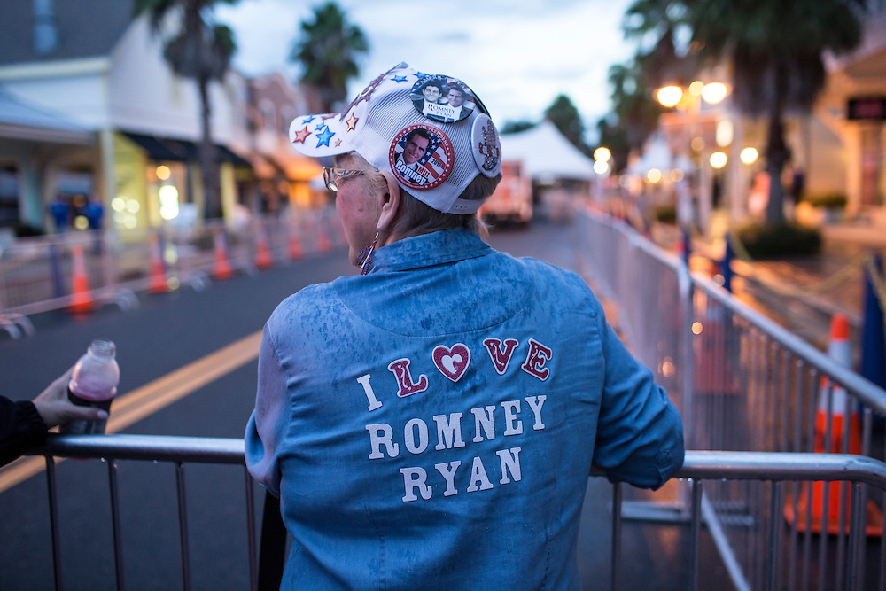 Jean Brewer waits in line for a campaign rally with Republican Vice Presidential candidate  Rep. Paul Ryan (R-WI) on Saturday, August 18, 2012 in The Villages, FL.