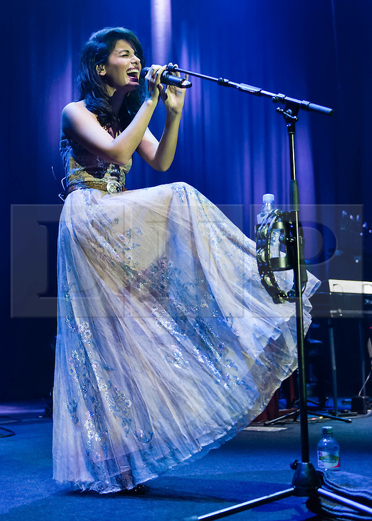 "© Licensed to London News Pictures. 02/10/2013. London, UK.  Katie Melua performing live at The Roundhouse.   Ketevan ""Katie"" Melua  is a Georgian-born British singer, songwriter and musician . Photo credit : Richard Isaac/LNP"