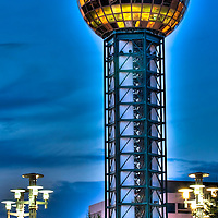 The Sunsphere in World's Fair Park, Knoxville, Tennessee.
