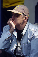 Photo. Glyn Thomas.<br /> Bolton Wanderers v Leeds United. <br /> FA Barclaycard Premiership. 02/05/2004.<br /> A dejected Leeds fan contemplates life in division 1 next season.