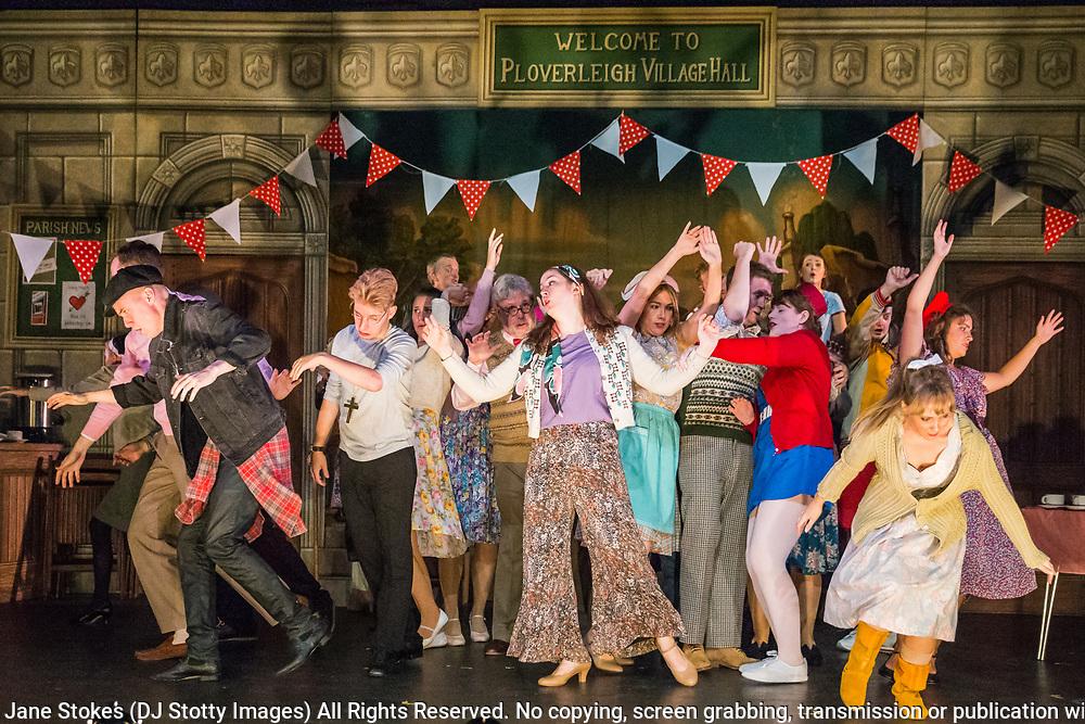 Dress rehearsal of The Sorcerer performed by the National Gilbert & Sullivan Opera Company in Buxton Opera House, Buxton, England on Saturday 04 August 2018 Photo: Jane Stokes<br /> <br /> Director: John Savournin<br /> Conductor: James Hendry<br /> Choreographer: Damian Czarnecki<br /> <br /> CAST<br /> <br /> SIR MARMADUKE POINTDEXTRE/Eddie Wade<br /> ALEXIS/Nick Sales<br /> DR DALY/Matthew Kellett<br /> NOTARY/Stephen Godward<br /> JOHN WELLINGTON WELLS/ Richard Gauntlett<br /> LADY SANGAZURE/Mae Hendorn<br /> ALINE/Ellen Williams<br /> MRS PARTLET/Ros Griffiths<br /> CONSTANCE/Emma Watkinson<br /> <br /> THE CHORUS<br /> <br /> Hannah Boxall, Nicole Boardman, Rhiannon Doogan, Joanna Goldspink, Alexandra Hazard, Maisy Hepburn, Juliet Montgomery, Jennifer Parker, Julie Power, Stephanie Poropat, Eloise Waterhouse<br /> <br /> Andrew Brown, Tom Blackwell, Peter Brooks, Stephen Fawell, Matthew Kellett, Michael Vincent Jones, Matthew Siveter, Henry Smith, Jonathan Stevens, Tim Southgate<br /> <br /> PRODUCTION TEAM<br /> <br /> TOUR MANAGER/Neil Smith<br /> STAGE MANAGER/Sarah Kent<br /> ASSISTANT STAGE MANAGER/Claire Litton<br /> LIGHTING DESIGN/David Marsden<br /> WARDROBE SUPERVISOR/ David Morgan<br /> SET DESIGN/ Paul Lazell<br /> REPETITEUR/Erica Gundesen