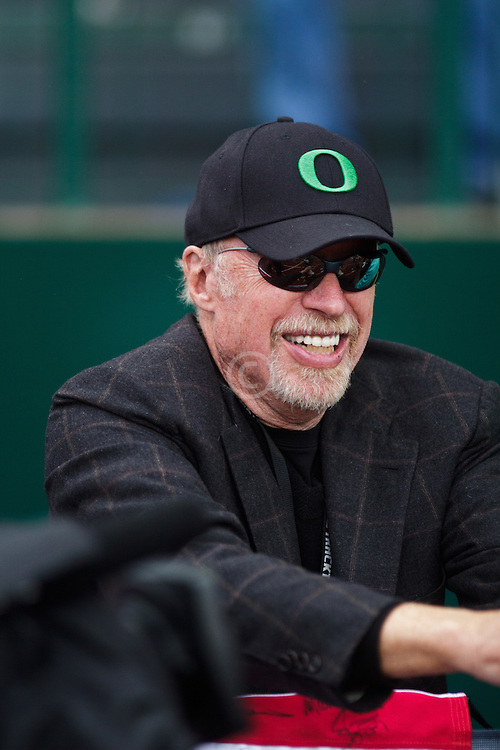 Olympic Trials Eugene 2012: Phil Knight, Nike, watches action
