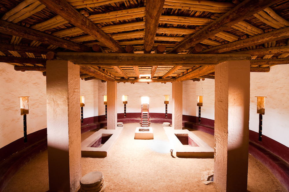The Great Kiva at Aztec National Monument in Aztec, New Mexico.