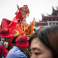 Mazu is carried through Meizhou&rsquo;s main square where 10,000 people have gathered to celebrate her birthday. <br />