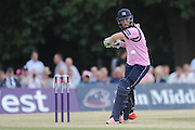 Andy Balbirnie makes 17 of 12 balls during the NatWest T20 Blast South Group match between Middlesex County Cricket Club and Somerset County Cricket Club at Uxbridge Cricket Ground, Uxbridge, United Kingdom on 26 June 2015. Photo by David Vokes.