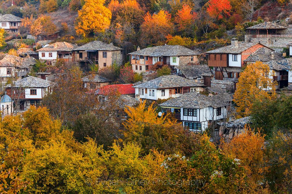 Village of Leshten in autumn