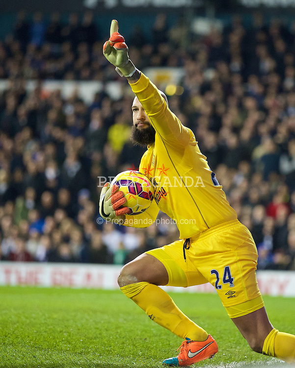 LONDON, ENGLAND - Sunday, November 30, 2014: Everton's goalkeeper Tim Howard in action against Tottenham Hotspur during the Premier League match at White Hart Lane. (Pic by David Rawcliffe/Propaganda)