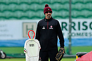 Somerset Director of Cricket Matthew Maynard during the warm up before the Specsavers County Champ Div 1 match between Somerset County Cricket Club and Lancashire County Cricket Club at the Cooper Associates County Ground, Taunton, United Kingdom on 14 September 2017. Photo by Graham Hunt.