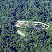 Bolivia. Copacobana. areal view of the camellones at Copacobana in the Bolivian Amazon.