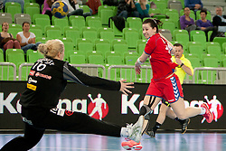 Misa Marincek of Slovenia during handball match between Women National Teams of Slovenia and Czech Republic of 4th Round of EURO 2012 Qualifications, on March 25, 2012, in Arena Stozice, Ljubljana, Slovenia. (Photo by Urban Urbanc / Sportida.com)