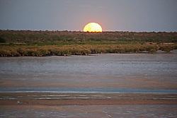 The full moon rises over Roebuck Bay.