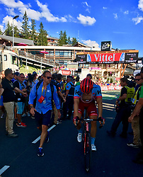 July 18, 2018 - Le Grand Bornand, FRANCE - German Marcel Kittel of Team Katusha-Alpecin arrives outside the time limit, after the eleventh stage in the 105th edition of the Tour de France cycling race, 108.5 km from ALbertville to La Rosiere Espace San Bernardo, France, Wednesday 18 July 2018. This year's Tour de France takes place from July 7th to July 29th...BELGA PHOTO ANN BRAECKMAN (Credit Image: © Ann Braeckman/Belga via ZUMA Press)