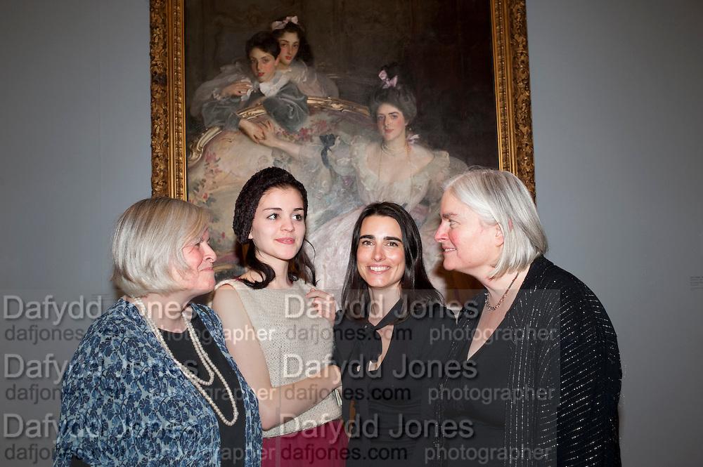 TESSA MURDOCH; SIENNA MURDOCH; SOPHIE MEYER; CAROLYN SANDS, ; Mrs. Carl Meyer and her Children. John Singer Sargent Migrations private view, Tate Britain. London. 30 January 2012.