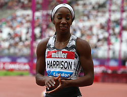 July 22, 2018 - London, United Kingdom - Kendra Harrison of USA  after the 100m Hurdles Women Final race.during the Muller Anniversary Games IAAF Diamond League Day Two at The London Stadium on July 22, 2018 in London, England. (Credit Image: © Action Foto Sport/NurPhoto via ZUMA Press)