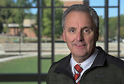 David Ingram of Ohio University's Institute of Nuclear & Particle Physics (INPP) poses for a portrait in the Living Learning Center for a portrait on September 27, 2016.