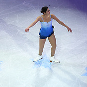 Mirai Nagasu is seen during the Smucker's Skating Spectacular at the TD Garden on January 12, 2014 in Boston, Massachusetts.