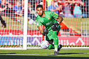 Doncaster Rovers goalkeeper Seny Dieng (24) in action during the EFL Sky Bet League 1 match between Doncaster Rovers and Peterborough United at the Keepmoat Stadium, Doncaster, England on 21 September 2019.