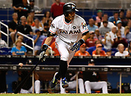 MIAMI, FL - JUNE 23:  Ichiro Suzuki #51 of the Miami Marlins bats in the seventh inning during the game between the Miami Marlins and the Chicago Cubs at Marlins Park on June 23, 2017 in Miami, Florida. (Photo by Mark Brown/Getty Images) *** Local Caption *** Ichiro Suzuki
