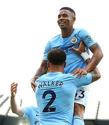 Gabriel Jesus of Manchester City celebrates after scoring his sides first goal - Mandatory by-line: Matt McNulty/JMP - 14/10/2017 - FOOTBALL - Etihad Stadium - Manchester, England - Manchester City v Stoke City - Premier League