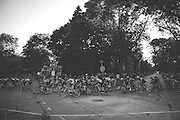 Racers are seen during the Tour of America's Dairyland cycling event in Milwaukee, Wisconsin on June 27, 2015.