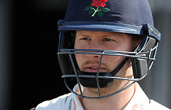 Lancashire's Karl Brown- Photo mandatory by-line: Harry Trump/JMP - Mobile: 07966 386802 - 08/04/15 - SPORT - CRICKET - Pre Season - Somerset v Lancashire - Day 2 - The County Ground, Taunton, England.