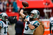 Carolina Panthers Quarterback Will Grier (3) during the International Series match between Tampa Bay Buccaneers and Carolina Panthers at Tottenham Hotspur Stadium, London, United Kingdom on 13 October 2019.