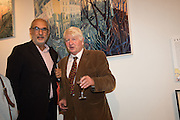 ALAN YENTOB; STANLEY JOHNSON, Exhibition opening of paintings by Charlotte Johnson Wahl. Mall Galleries. London, 7 September 2015.