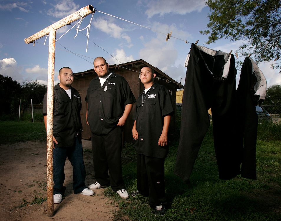 "Soulja (left), Kukuy, and Mirakle Assassin are Lost Souls, a Mission rap group that rhymes about the drug dealing and violence that they grew up in, and grew out of.  Their debut album ""Your Entertainment, Our Reality"" was released in 2007."