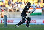 Black Caps Captain Kane Williamson bats during the Fifth ODI of the 2019 ANZ International ODI Series. Blackcaps v India at Westpac Stadium, Wellington, Sunday 3rd February 2019. © Copyright Photo: Grant Down / www.photosport.nz