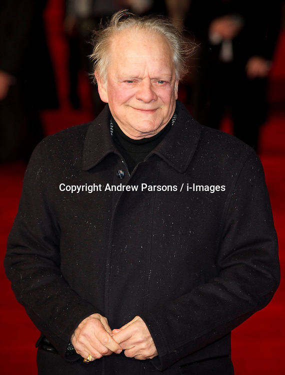 Actors David Jason arrives for the Run For Your Wife - UK film premiere Odeon -Leicester Sq- London Brit comedy about a happily married man - with two wives, Tuesday  February 5, 2013. Photo: Andrew Parsons / i-Images